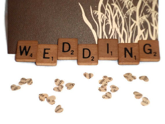 Wedding Magnet - Scrabble Wedding - Scrabble Tile Magnet - Wedding Photo Holder - Upcycled Magnet - Reception Decor - Menu Display