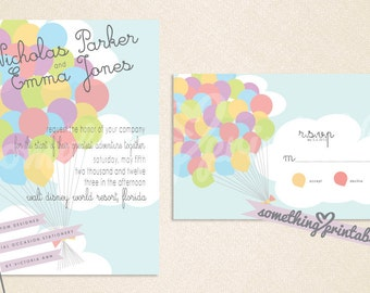 Balloons - Fairty Tale Inspired Printable DIY Wedding Suite