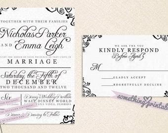 Whimsy - DIY Printable Wedding Invitation Suite