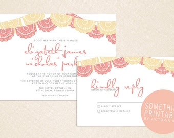 Anna - Printable Festive Papel Picado Invitation Design