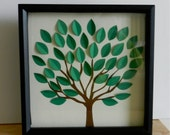 3D Tree Guest Book Alternative, Going Away Card, Sign the Blank Leaves (Custom Colors Available)