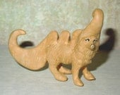 Dog Upcycled Figurine Miniature Statue OOAK Polyclay Sculpture Geekery Art