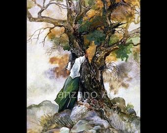 Nature Art Tree Lovers Art Card Small Art Print