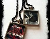 Richard Ramirez Night Stalker Pentagram Inverted Cross Serial Killer Style Charm Necklace Horror