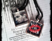 "Jeffrey Dahmer ""Kiss the Cook""  Cannibal Necklace Double Chain Charm Serial Killer Horror"