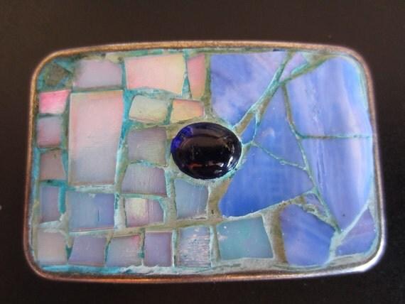 Blue Abyss Mosaic Belt Buckle