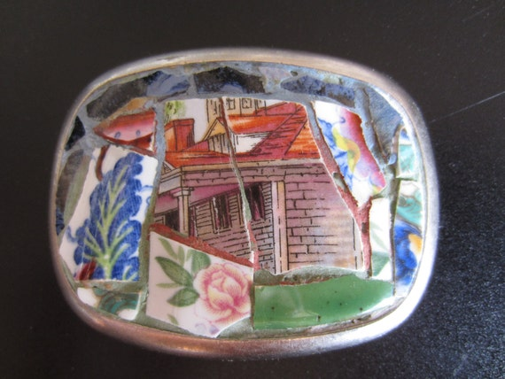 This Old House Mosaic Belt Buckle
