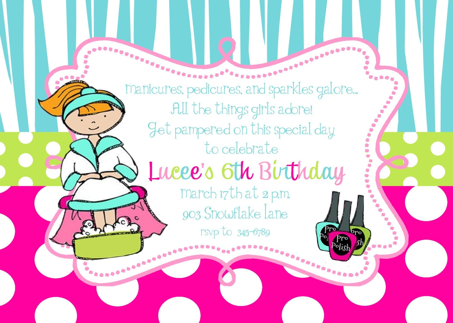 Pamper Party Invite as luxury invitation ideas