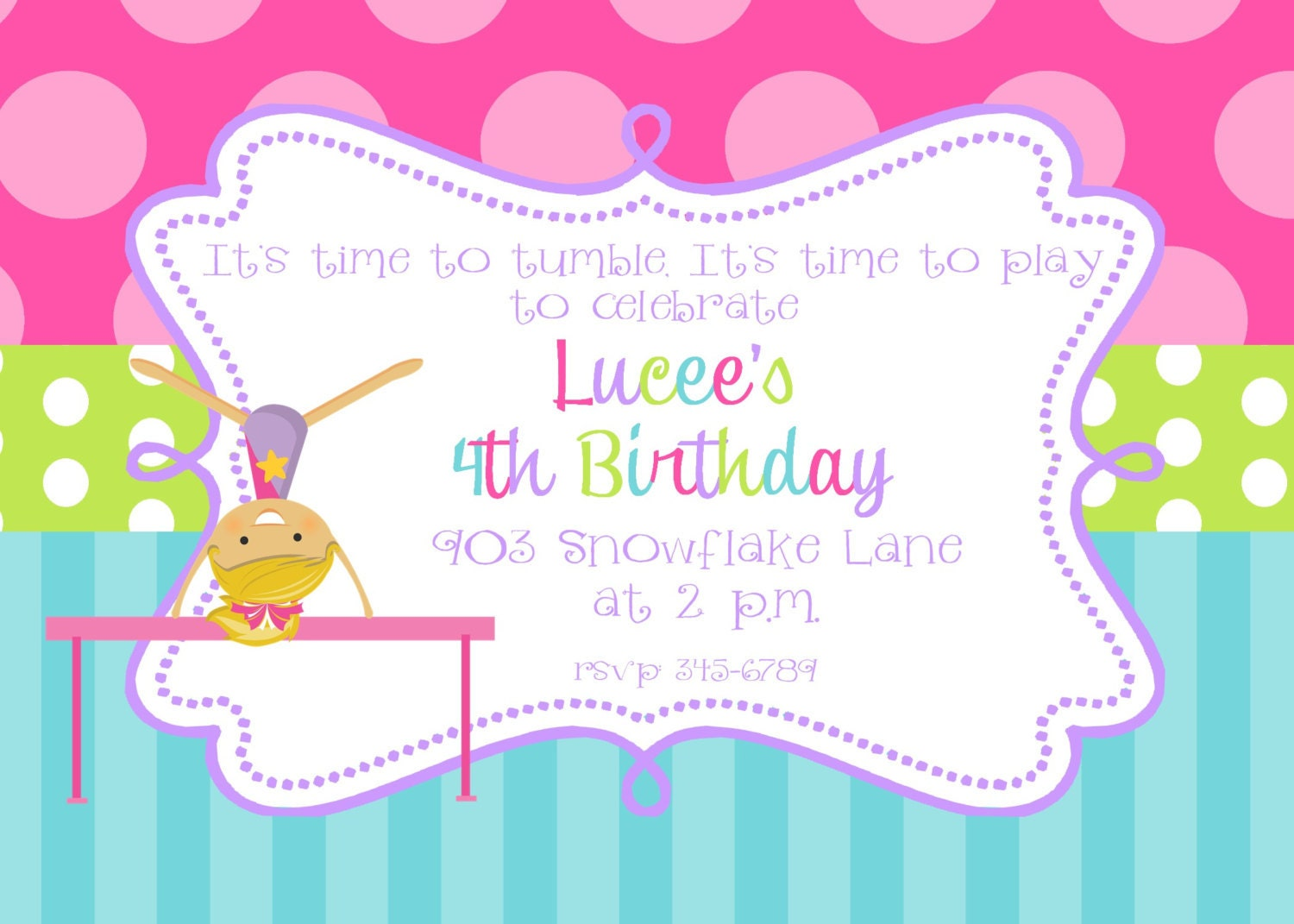 Gymnastics Party Invitations for your inspiration to make invitation template look beautiful