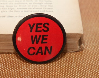 Yes We Can Retro Button