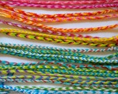 7 Woven Thread Friendship Bracelets---Inexpensive Gift for Team, Slumber or Birthday Party or to Relive Childhood Memories