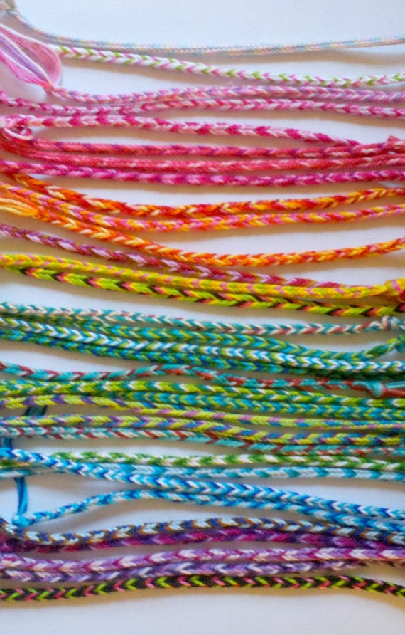 DISCOUNT PRICE: 16 Woven Thread Friendship Bracelets--Fun & Inexpensive for Kids and Adults