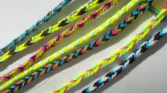 7 Neon Friendship Bracelets---Collect and Trade for Camp, Clubs, Summer Break, Slumber or Birthday Parties,