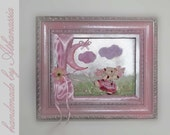 teddy pink ballerina shadowbox