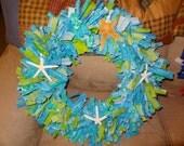 Summer Fabric Rag Wreath