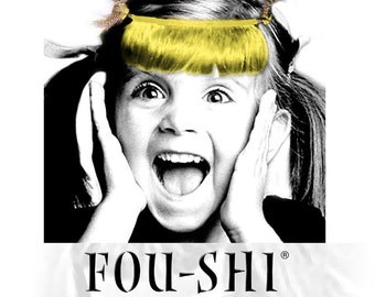 FOU-SHI - the instant haircut - yellow - pony to connect