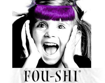 FOU-SHI - the instant haircut - purple - pony to connect