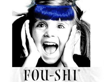 FOU-SHI - the instant haircut - royal blue - pony to connect