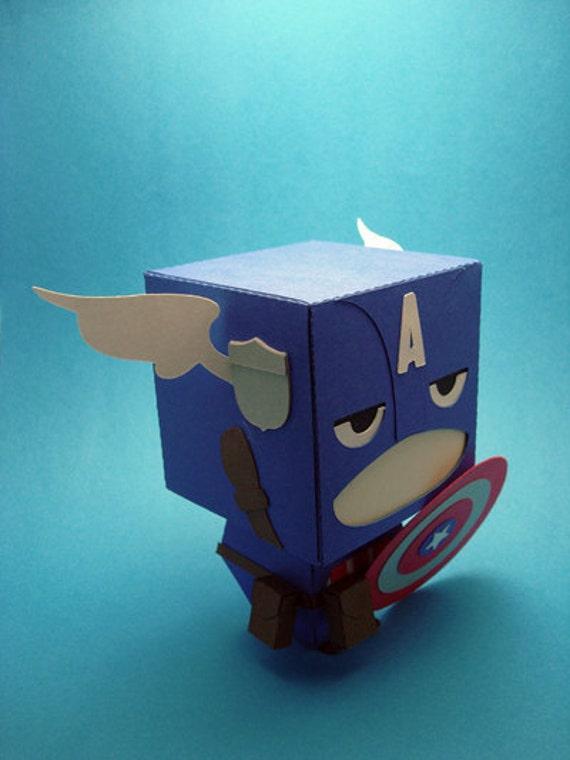 Captain America Inspired Gift Box Display