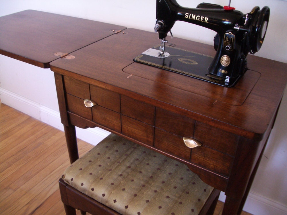 Singer 99k Sewing Machine And Cabinet Set 1955