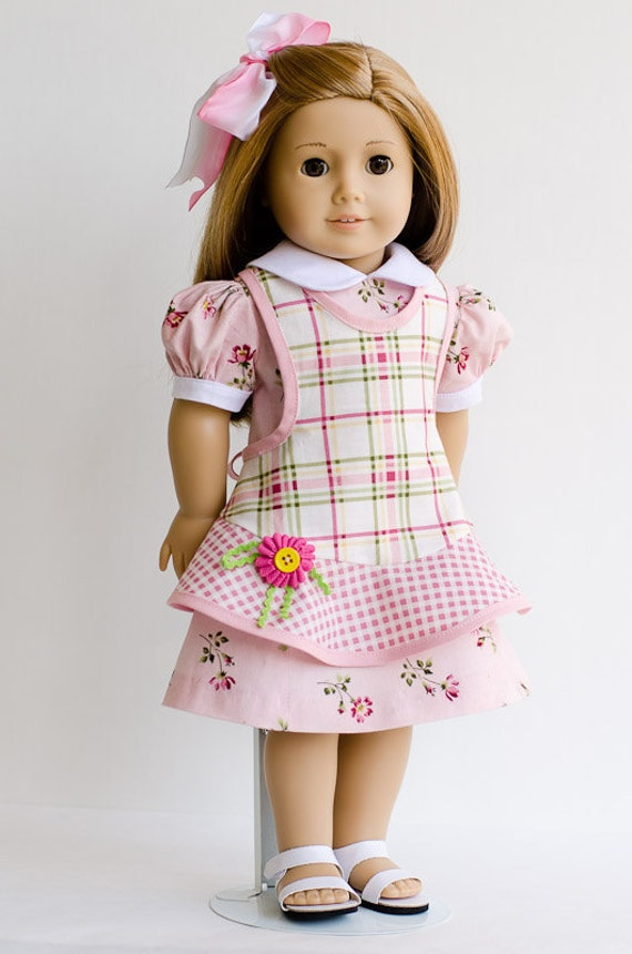 Reserved for Nancy - Pink Dress with Pinafore