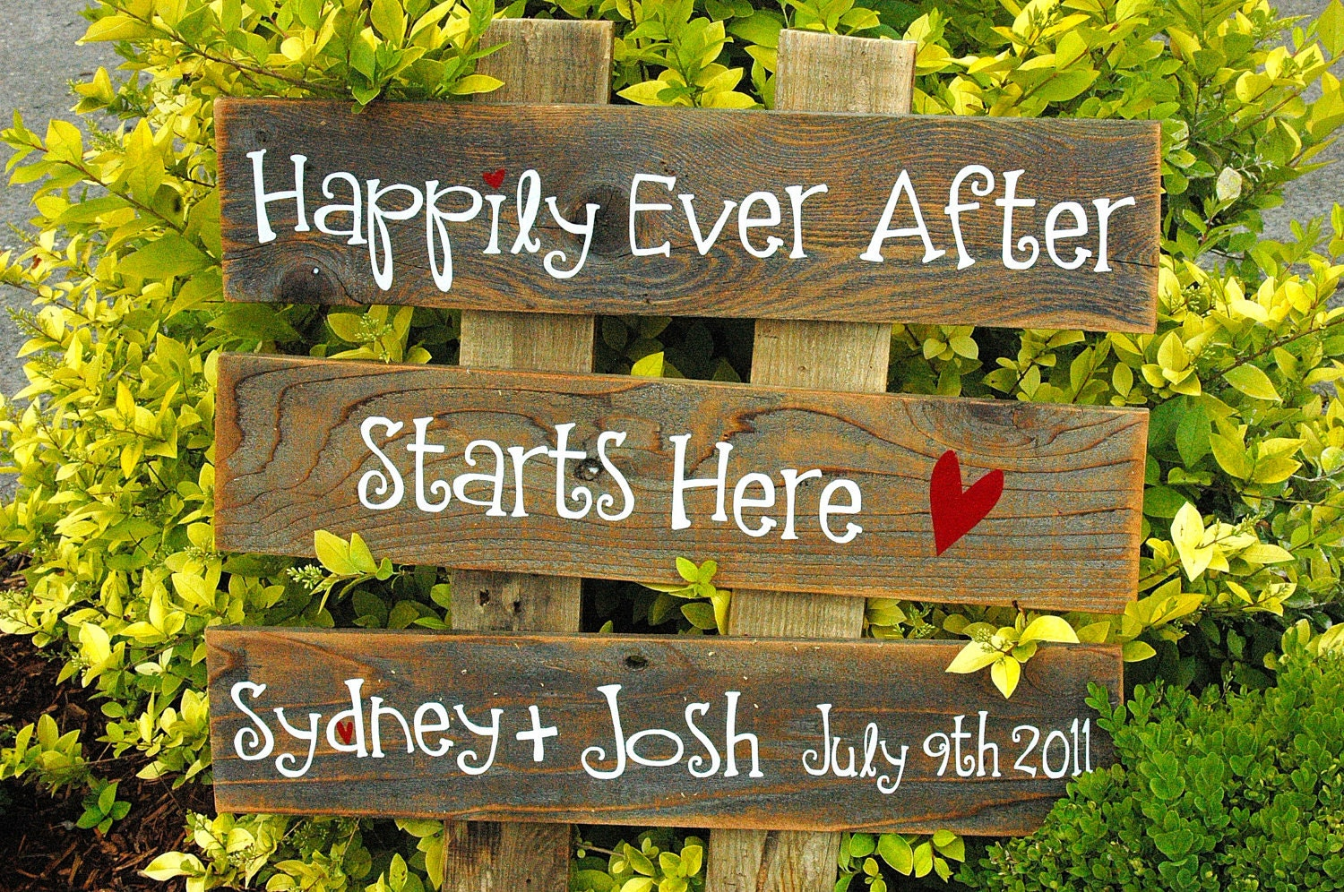 CUSTOM Large Wedding Sign 3 Rows Of Wood You By AllMyGoodness