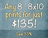 Sale: 8 8x10's for just 135 - Landscape Photography - Food Photography - Nature Art Prints - Classic Home Décor