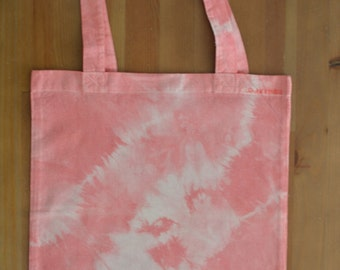 Tie dyed cotton bag, light red