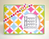 Bright & Bold Colorful Happy Birthday Card