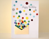 "Confetti & Mini Envelope ""Happy Birthday"" Card"