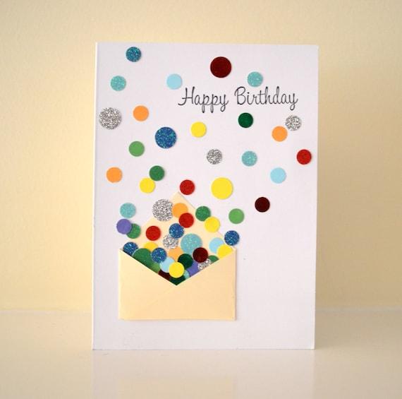 "Items Similar To Confetti & Mini Envelope ""Happy Birthday"