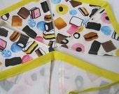 Liquorice allsorts fabric bunting