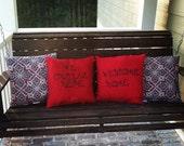 SET (2) Matching Indoor/Outdoor Pillow Covers