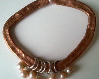 PRIMITIVE LOOKING  hammered copper set.