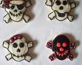 Skull And Crossbones - Sugar Cookies with buttercream frosting