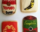Pop Art / Fine Art Sugar Cookies with Buttercream Frosting
