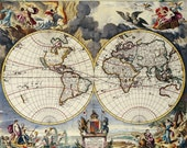 300 Very Rare Vintage/Old Cartographic World Map & Atlas images in .jpg (Large size, Ultra high resolution, 300dpi) on DVD-ROM