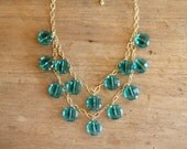 Teal Blue Statement Necklace