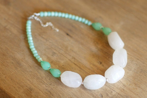 Chunky Mint Green Necklace