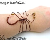 Scorpion Wire Wrapped Bracelet Unique Design Handcuff