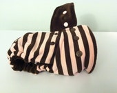 Pink and Brown Stripes One Size Fitted Cloth Diaper