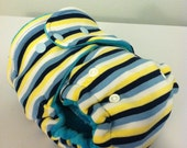 Nautical Stripes One Size Fitted Cloth Diaper