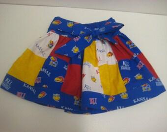 Jayhawk patchwork skirt