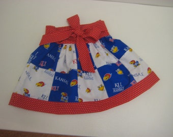 KU patchwork skirt