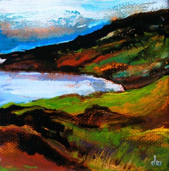 Deborah Watkins Original Acrylic Painting - ' Clifden Walk'