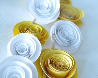 Yellow Garland Paper Flower Garland Wedding Garland