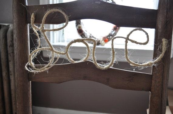 Hemp Wire Word Love- Natural