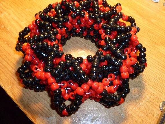 Big 3D Kandi Rave Bracelet Cuff