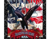 Freedom Shower Curtain with Eagle