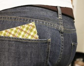 Retro Men's Bifold Wallet- Green Plaid with Damask Lining St Patricks Day